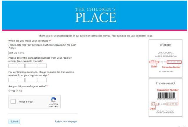 The Children's Place Survey 2