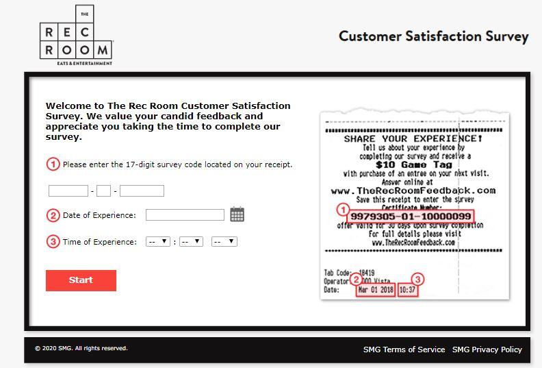 The Rec Room Customer Feedback Survey