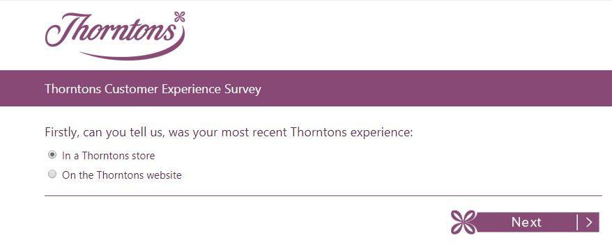 Thorntons Customer Experience Survey 1