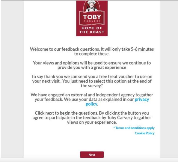 Toby Carvery Survey