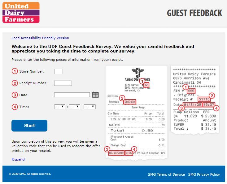 UDF Guest Feedback Survey