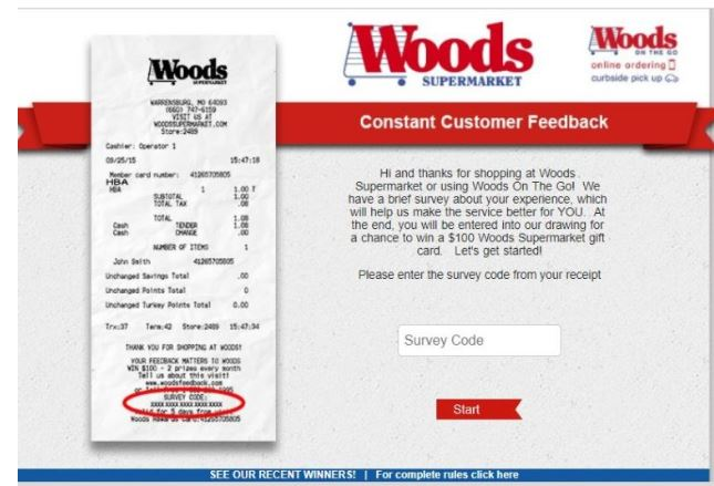 Woods Supermarket Survey