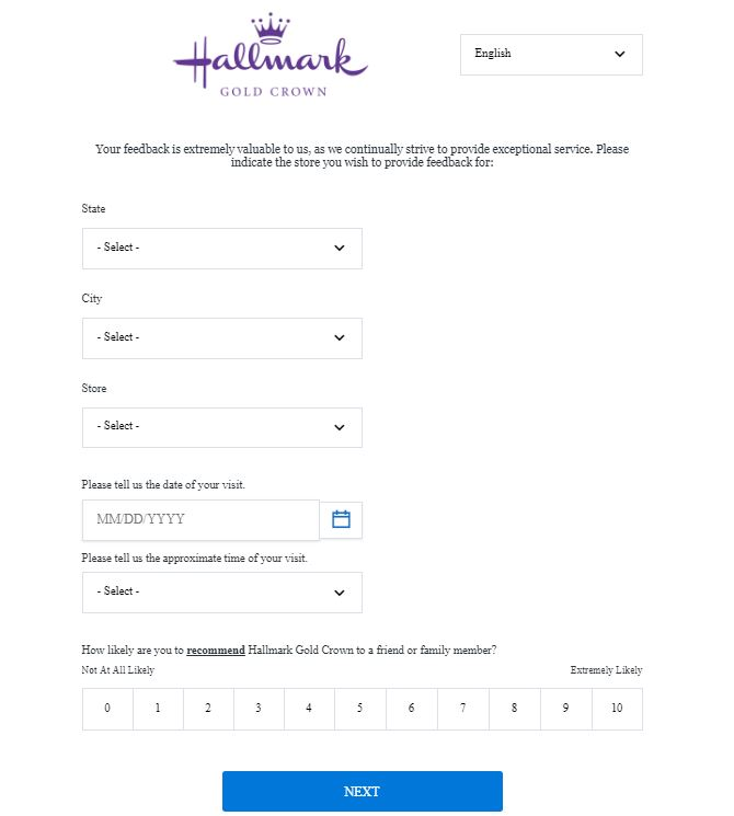 hallmarkfeedback survey