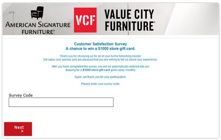 American Signature Furniture Survey
