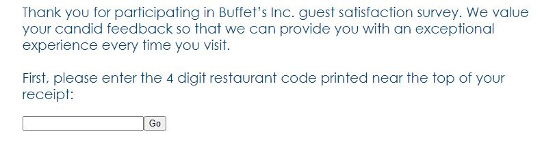 Buffet Survey