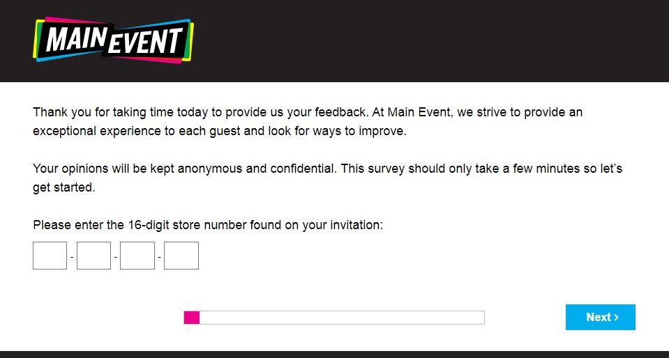 Main Event Survey