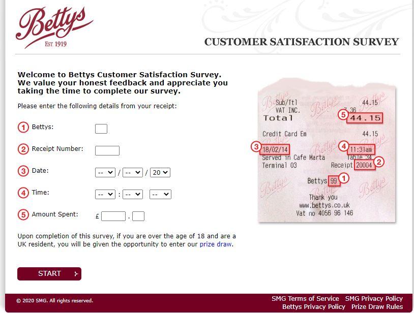 My Bettys Survey
