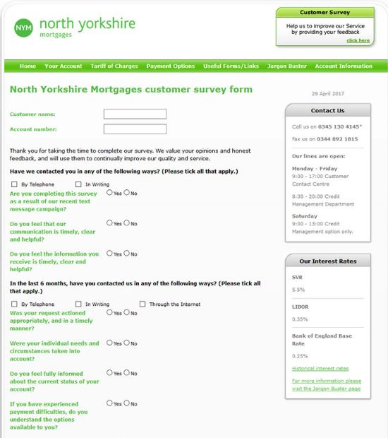 North Yorkshire Mortgages Survey 1