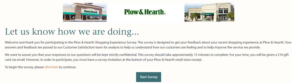 Plow & Hearth Survey