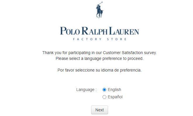 Polo Ralph Lauren Survey