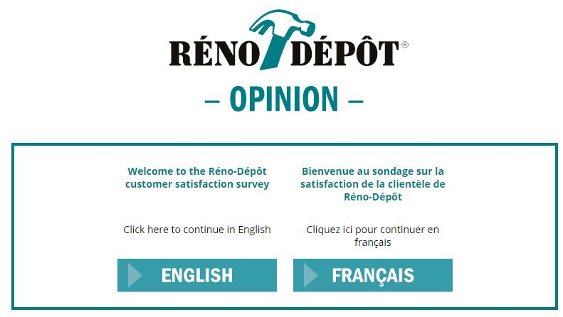 Réno-Dépôt Survey