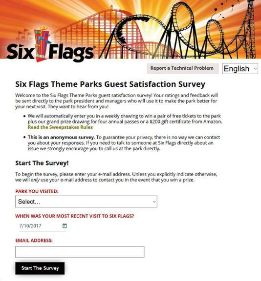 Six Flags Survey