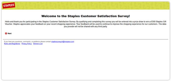 Staples UK Survey
