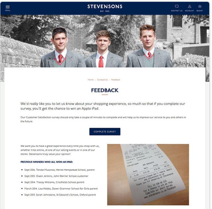 Stevensons Customer Feedback Survey