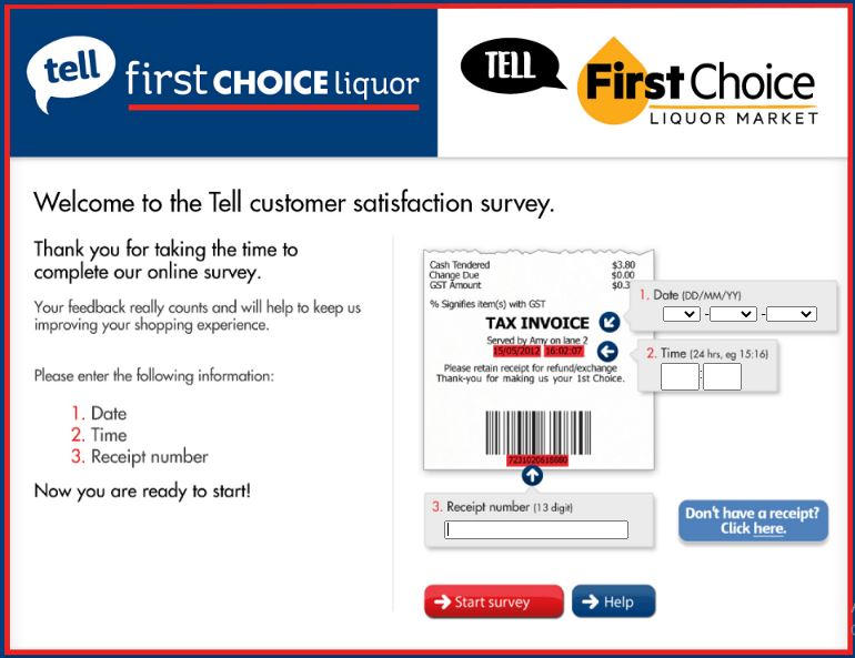 Tell First Choice Survey
