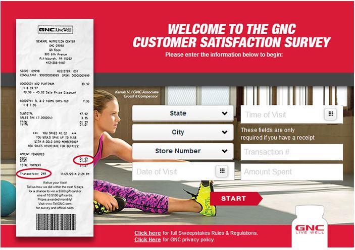 Tell GNC Survey
