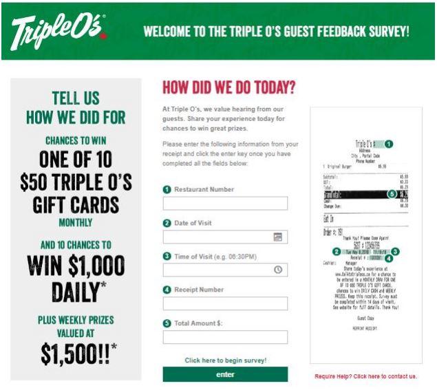 Triple O's Survey