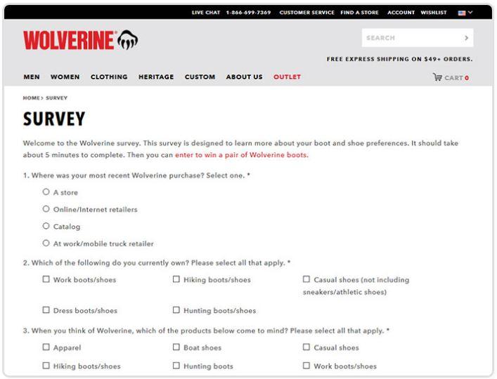 Wolverine Customer Satisfaction Survey