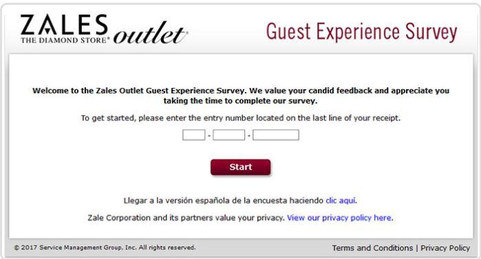Zales Outlet Survey
