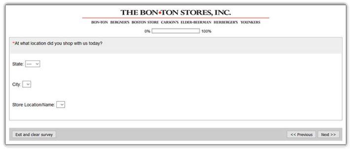 BON-TON Survey Rewards