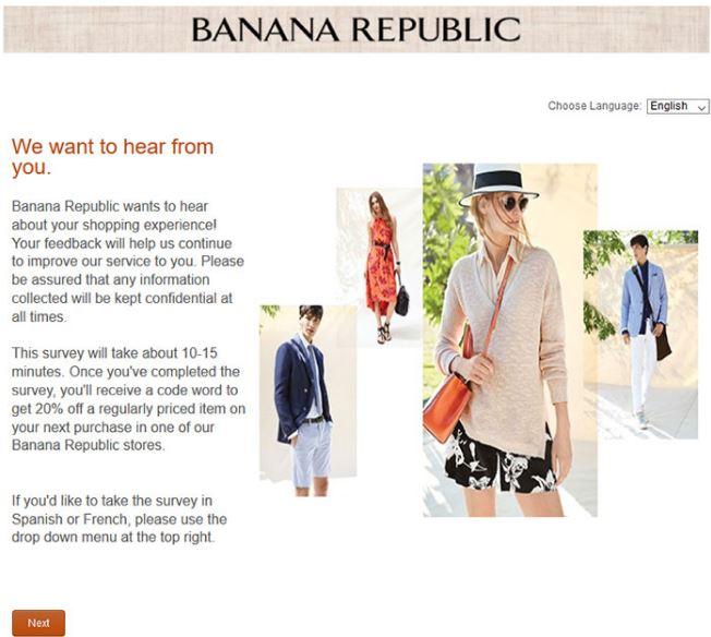 Banana Republic Survey